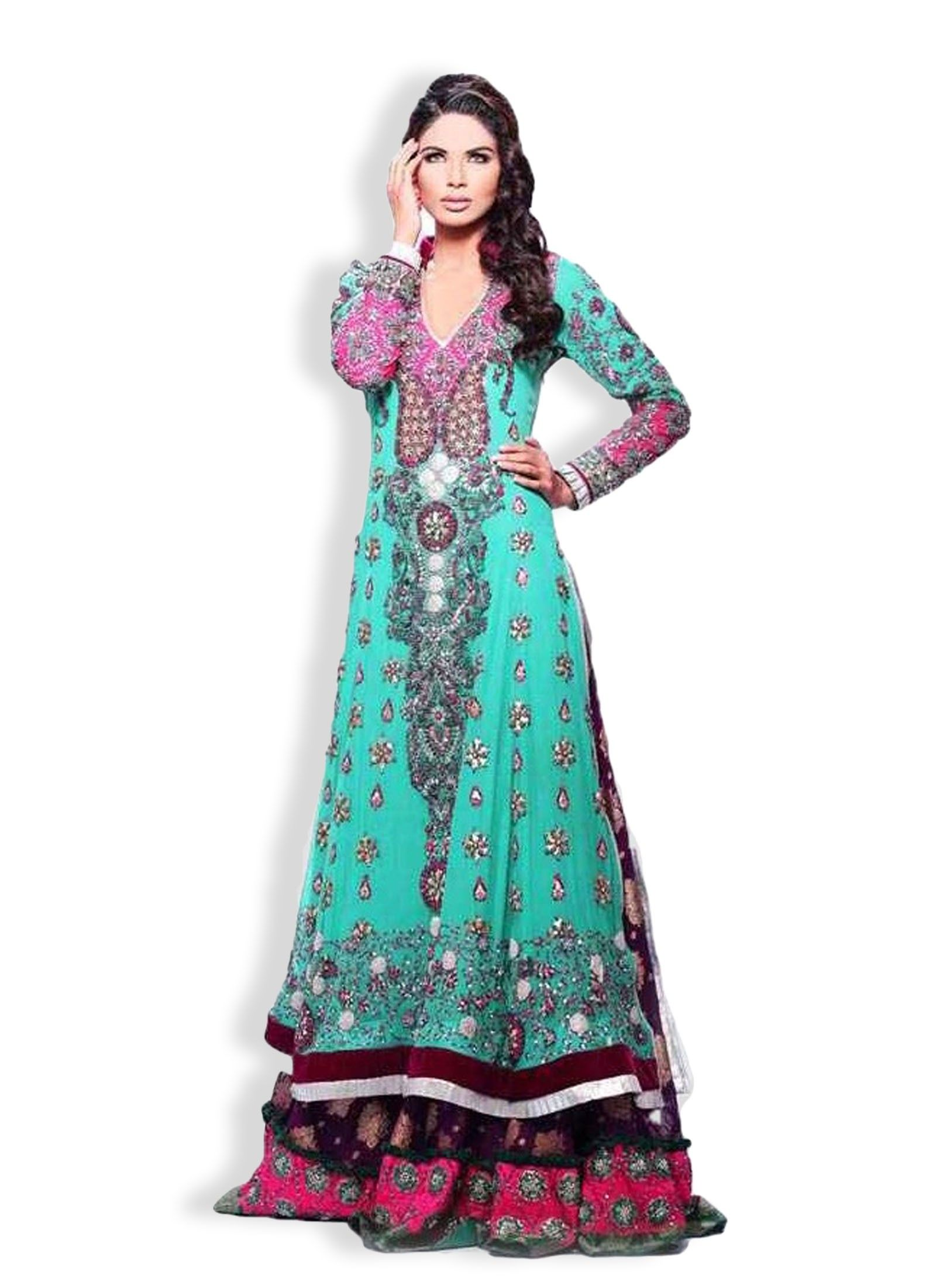 Shirt design girl pakistani - Latest Bridal Sharara Dress Design For Girls