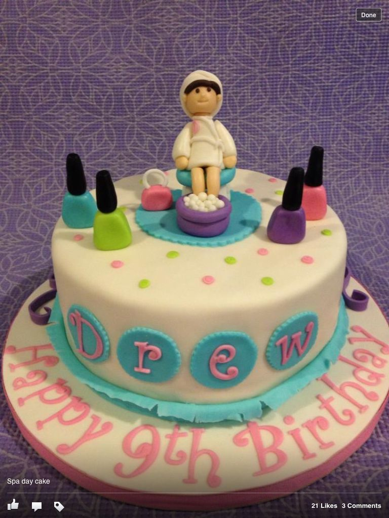 Spa Party Cake Images : Spa cake Birthday Party Ideas Pinterest