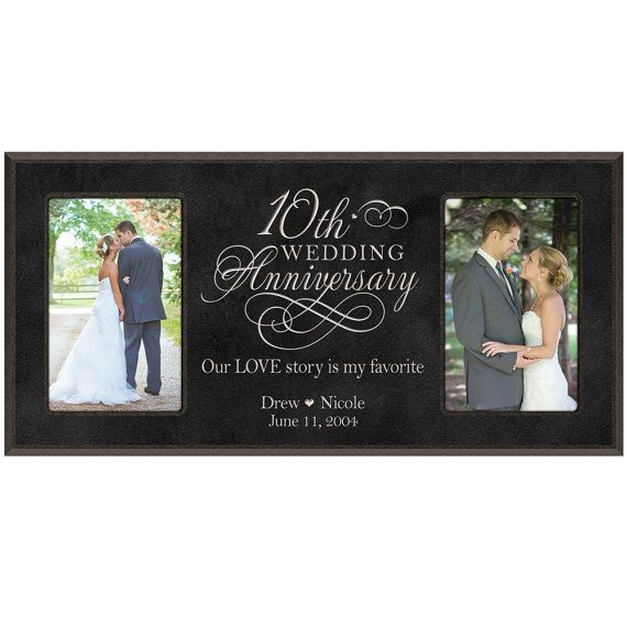 10th Wedding Anniversary Photo Frame Personalizied 10th Anniver 1st Wedding Anniversary Gift 1st Wedding Anniversary Gift For Him Wedding Anniversary Pictures