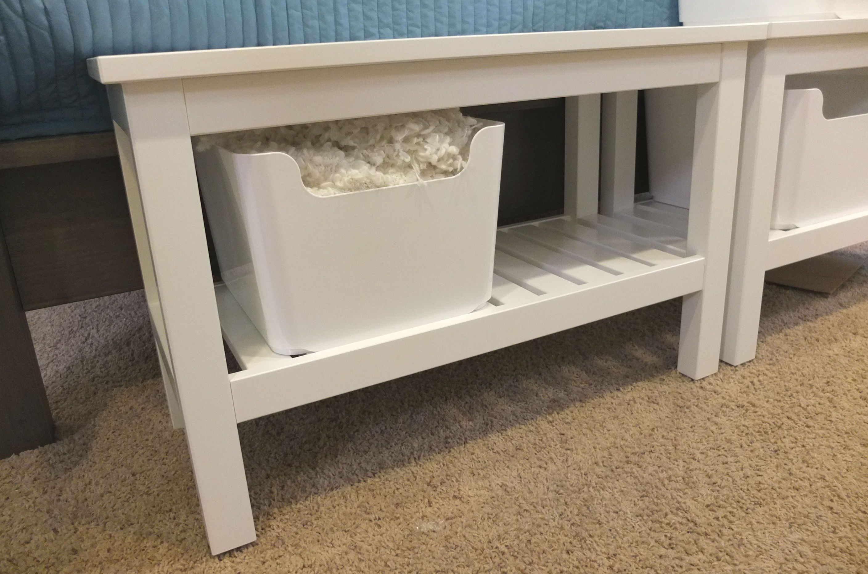Hemnes Bench White Hemnes Solid Pine And Pine