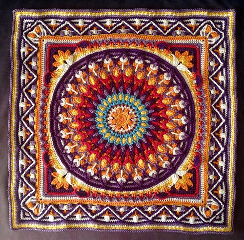 Ravelry: RayOLR\'s Dandelion Border on Spanish mandala   Crochet ...
