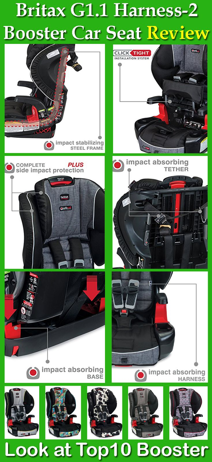 Britax G1 1 Frontier Clicktight Combination Harness 2 Booster Car Seat Works As A Harness Car Seat For Ch Best Baby Car Seats Best Booster Seats Baby Car Seats