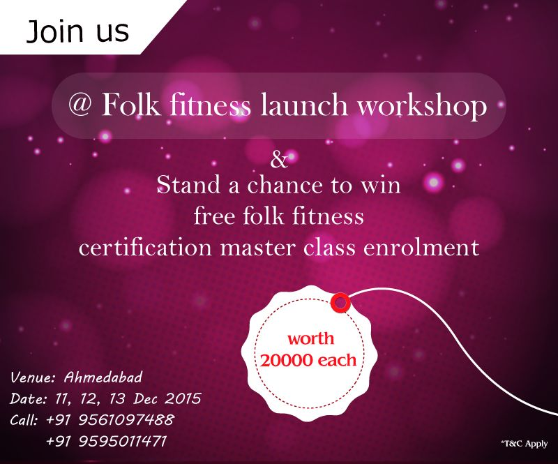 Get set guys. Come join us @Folk Fitness Launch Workshop and stand a chance to win free master class enrollment upto Rs 20000/-  #folkfitness #fitnessforfolks #fitness #folkdance #FitIndia #India #indianfolkdance #indianfolk #iloveIndia