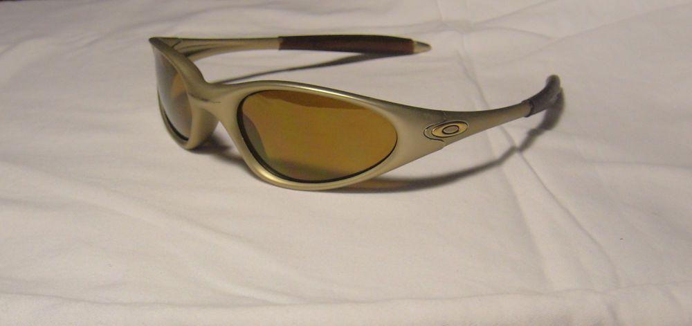 bb284b384c Oakley MINUTE 1.0 Generation 2 Sunglasses FMJ Platinum Gold Iridium Excel  Cond  Oakley  Minute