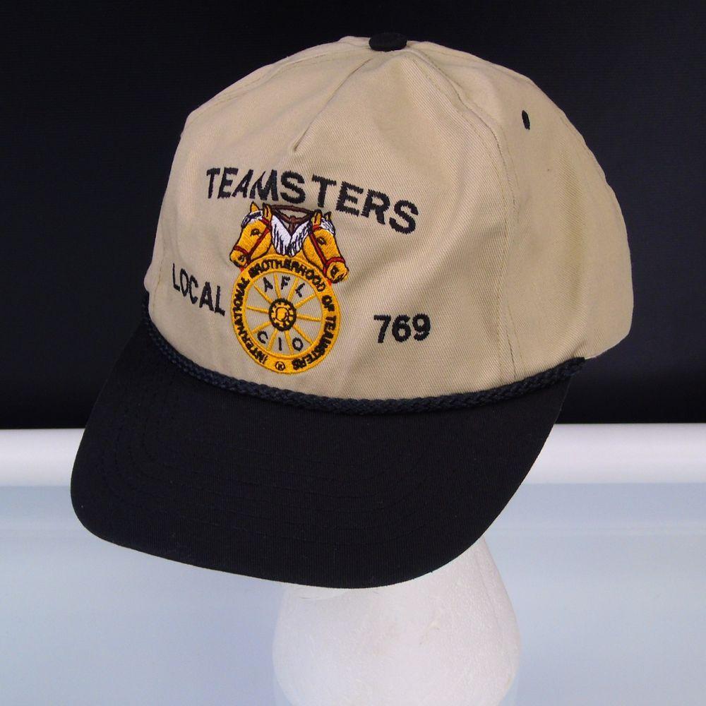 48b8b143d83 Baseball Hat International Brotherhood Of Teamsters Local 769 VTG Snapback  Cap  JacksonSpecialtyAdvertising  BaseballCap