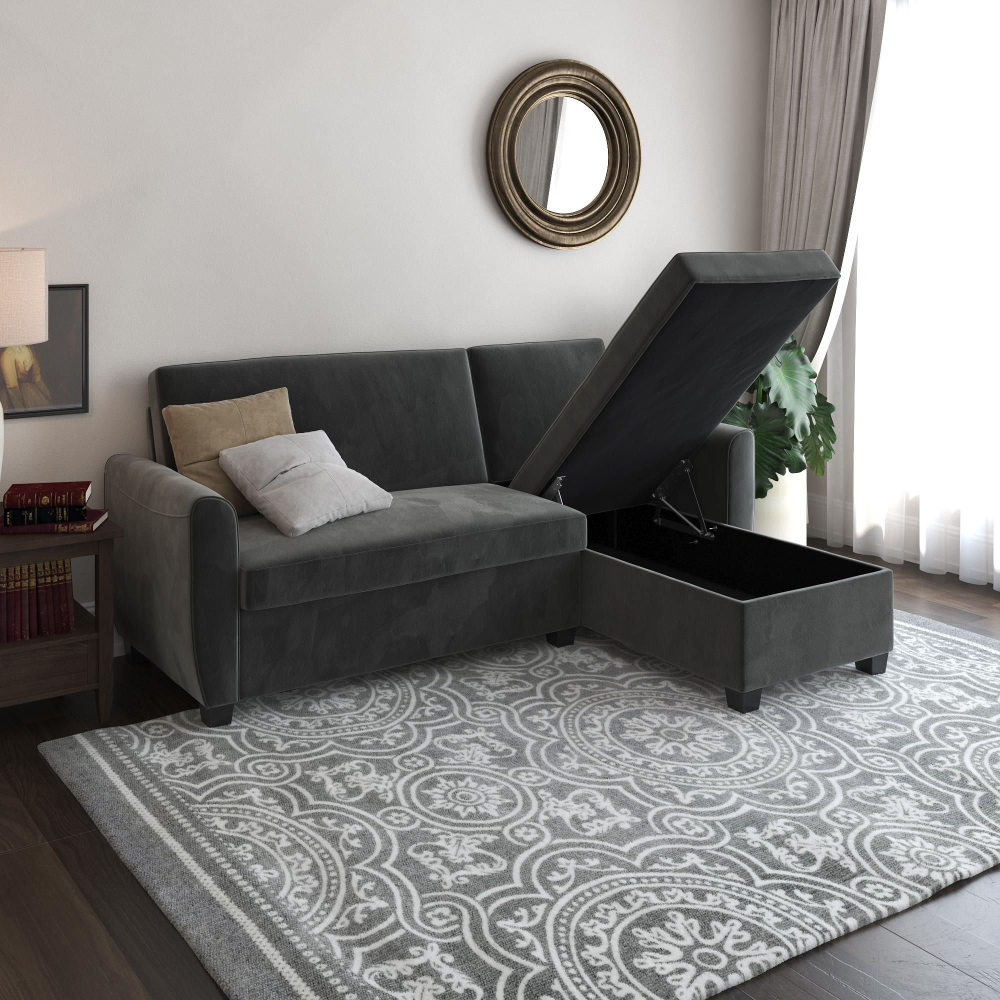 Home In 2020 Sofa Bed With Storage Sectional Sofa Twin Bed Frame