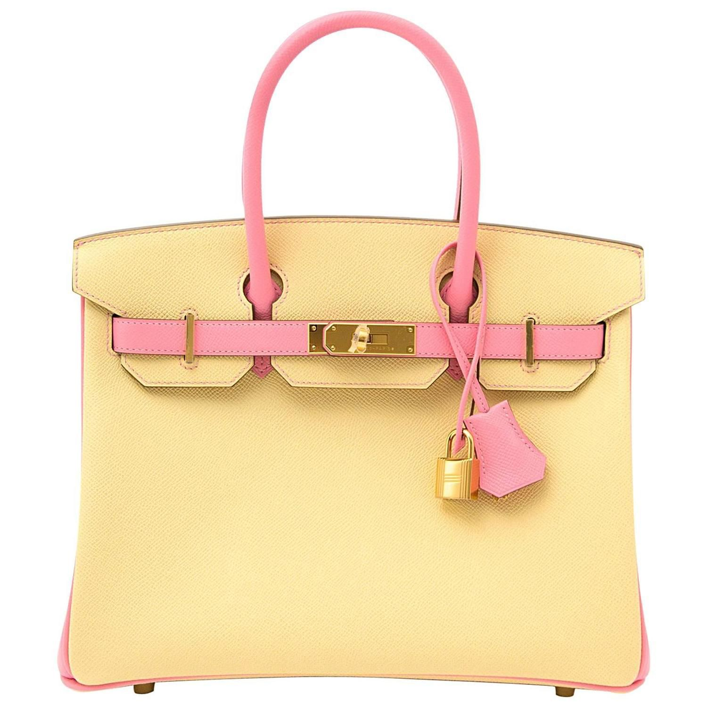 52a1a8b5b5 ... where to buy rare brand new hermès birkin 30 epsom bicolor jaune  poussin and rose confetti ...