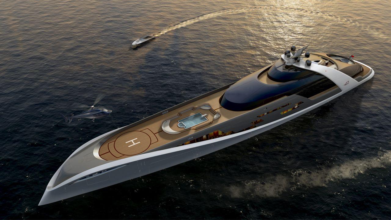 7Cs Superyacht 125 Meter Yacht Design, Lavish, Rich, Richmenslife, Beautiful, Interior, Seas, Transport, Private