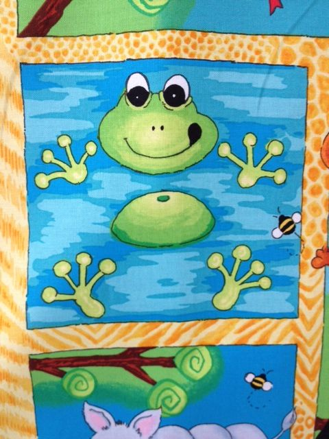 "Phinneas the Frog -  from ""Alligator Tales"" my upcoming collection for Red Rooster.  Due in quilt shops Jan/Feb 2013!"