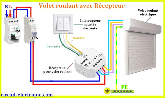 Branchement Volet Roulant Avec Telecommande Cablage Electrique Maison Domotique Volet Roulant Installation Electrique Maison