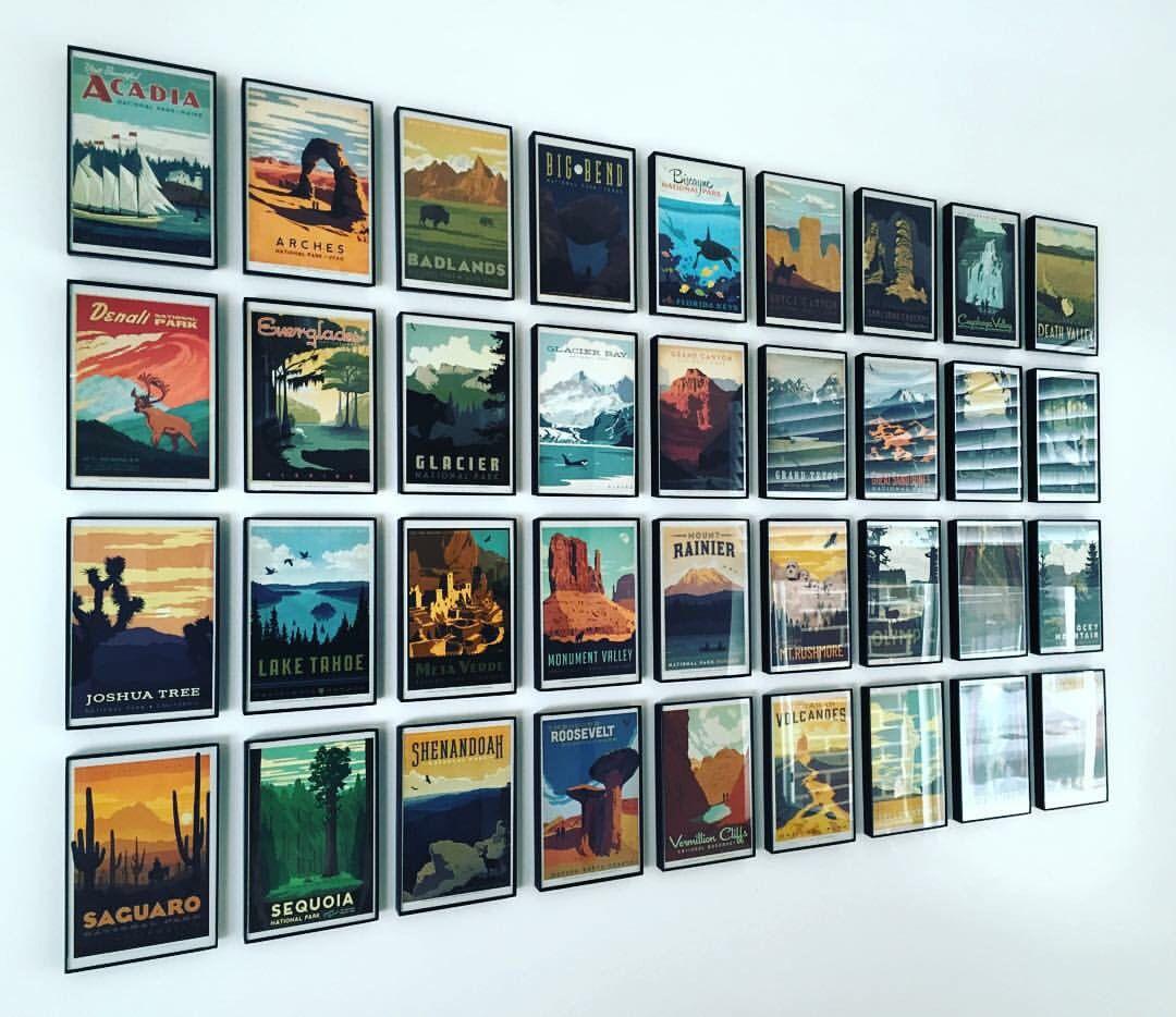 US National Parks Postcard Collage   crafty stuff   Pinterest ...