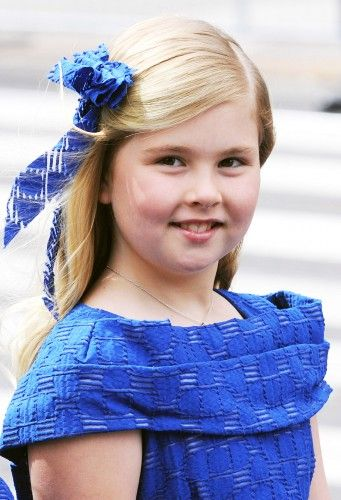 Next in line to the Dutch throne pictured on the day of her father's inauguration as King in 2013 - the day Catharina-Amalia herself became Princess of Orange.