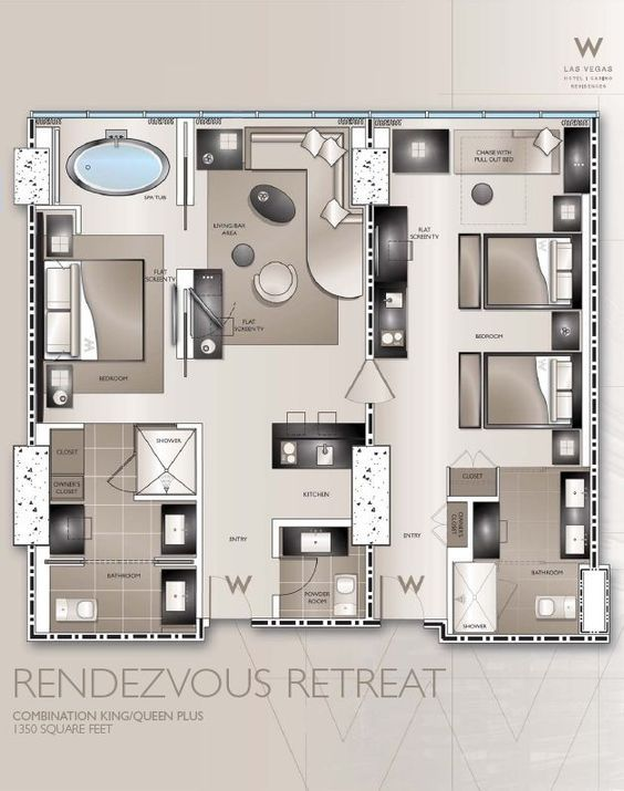 Typical W Hotel Guestroom Plans Google Search Ev Plani Ev Planlari Kucuk Ev Planlari