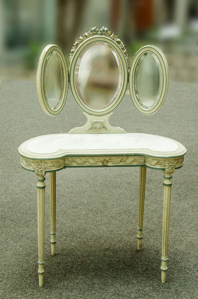 View this item and discover similar vanities for sale at   Louis XVI style  coiffeuse in original paint Coiffeuse  or Louis XVI Style Dressing Table   From a unique  . Louis Xvi Style Furniture For Sale. Home Design Ideas