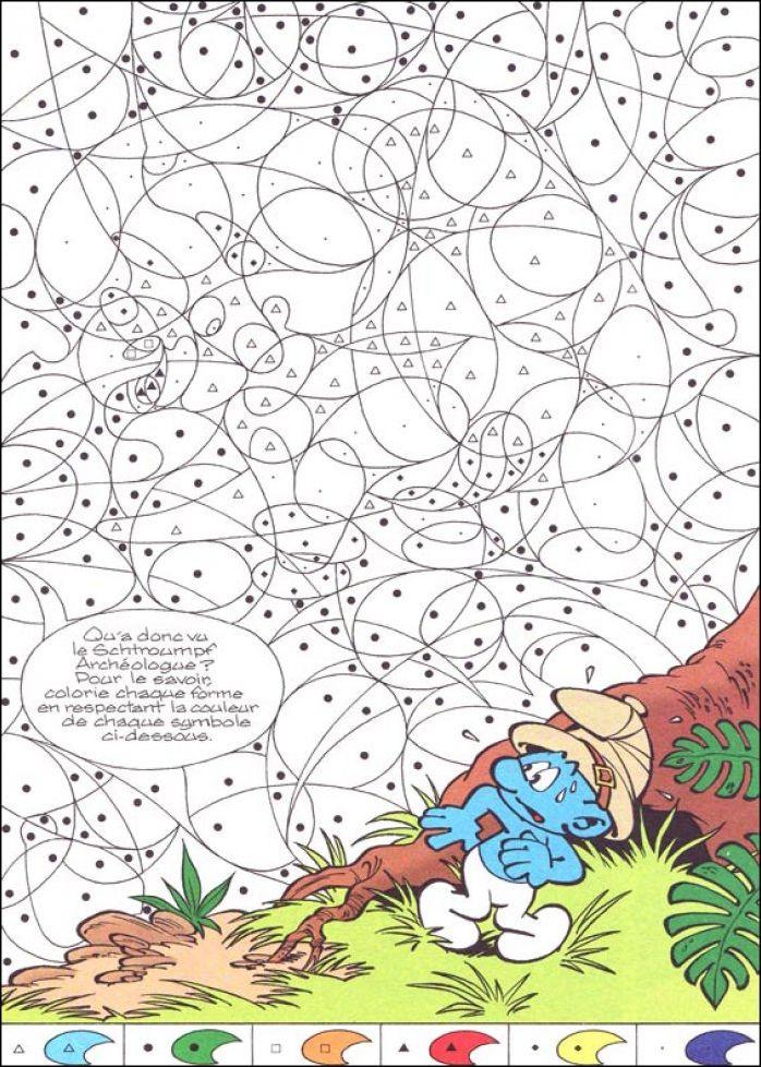 Coloriage coloriage magique les schtroumpf coloriage for Puzzle a colorier gratuit