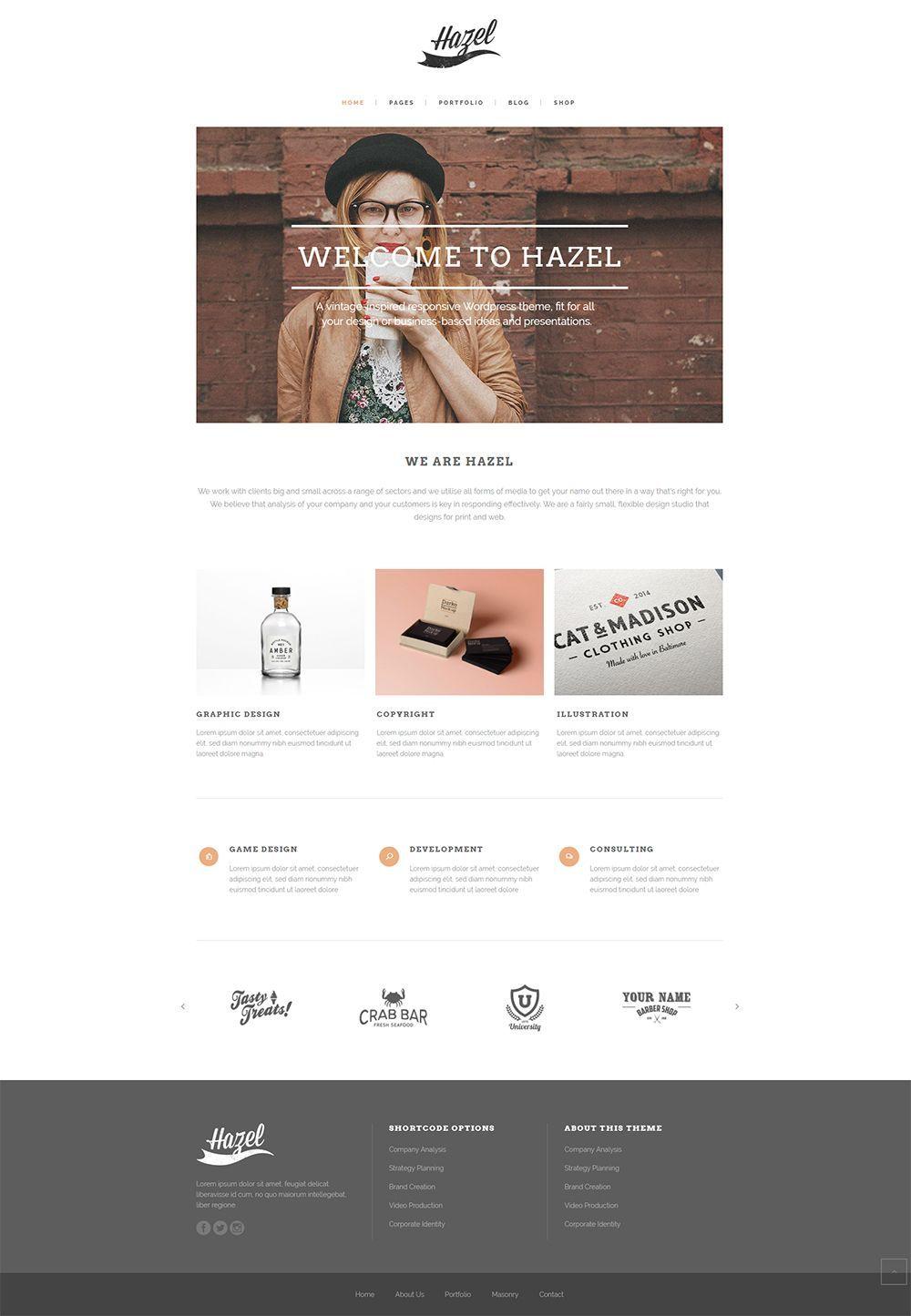 Create your dream website today with Hazel WordPress theme
