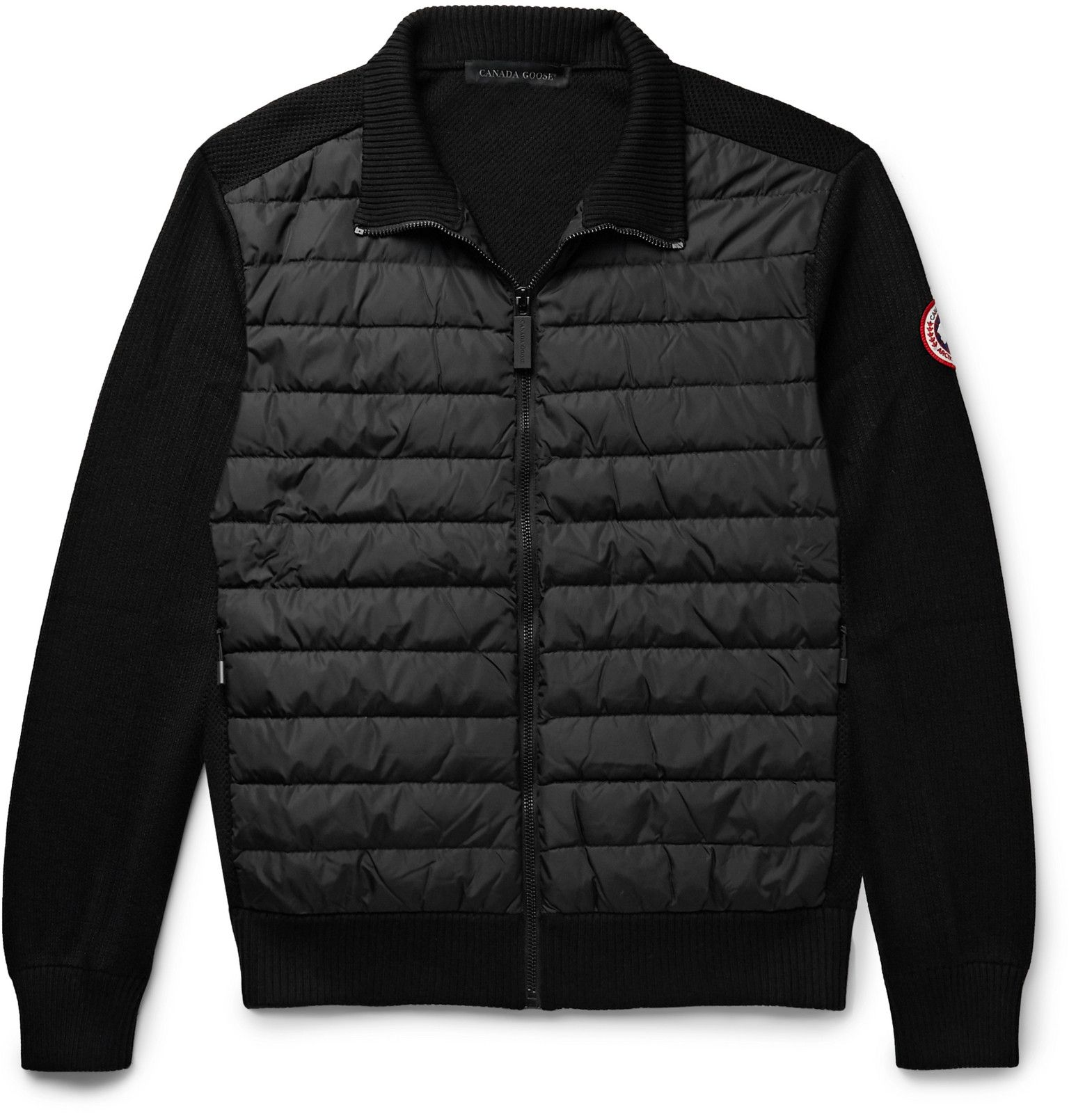 Canada Goose Hybridge Quilted Down Shell And Merino Wool Jacket Men Black In 2020 Jackets Canada Goose Jackets Winter Jackets