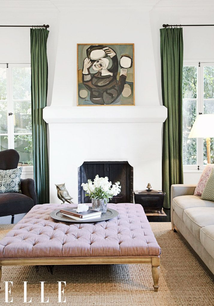 16 Envyinducing Celebrity Art Collectors  Living Spaces Spaces Pleasing Living Rooms With Ottomans Design Ideas