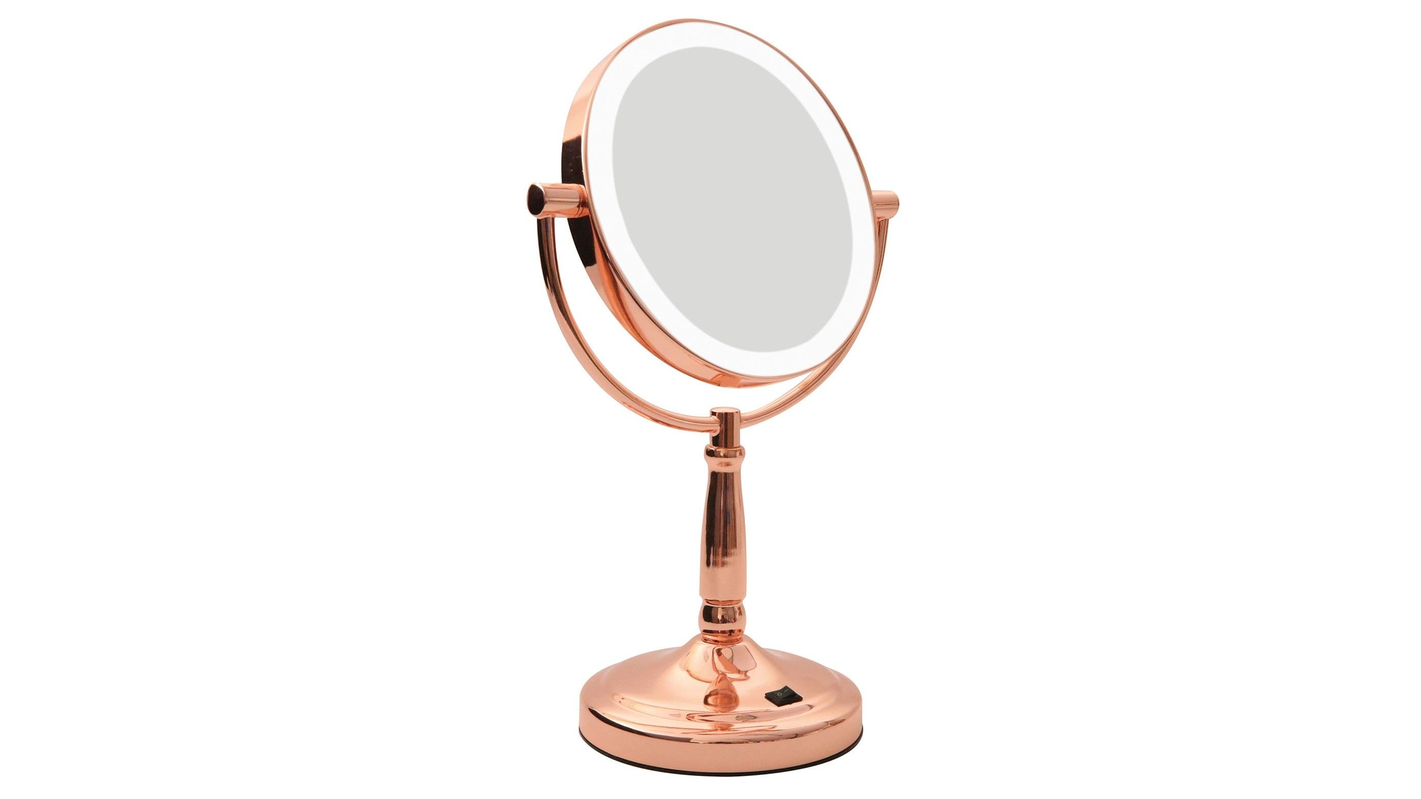 Rose Gold Lighted Makeup Mirror Gnubies Org