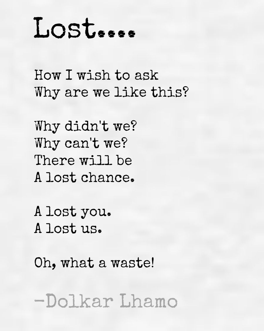 A lost you,  A lost us.