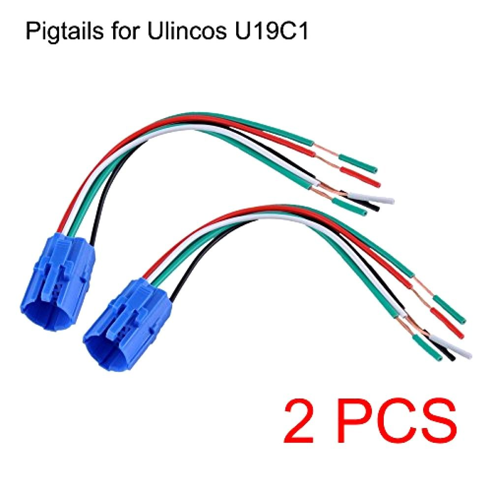 Ulincos 19mm Pigtail, Wire Connector, Socket Plug for U19C1 Push ...