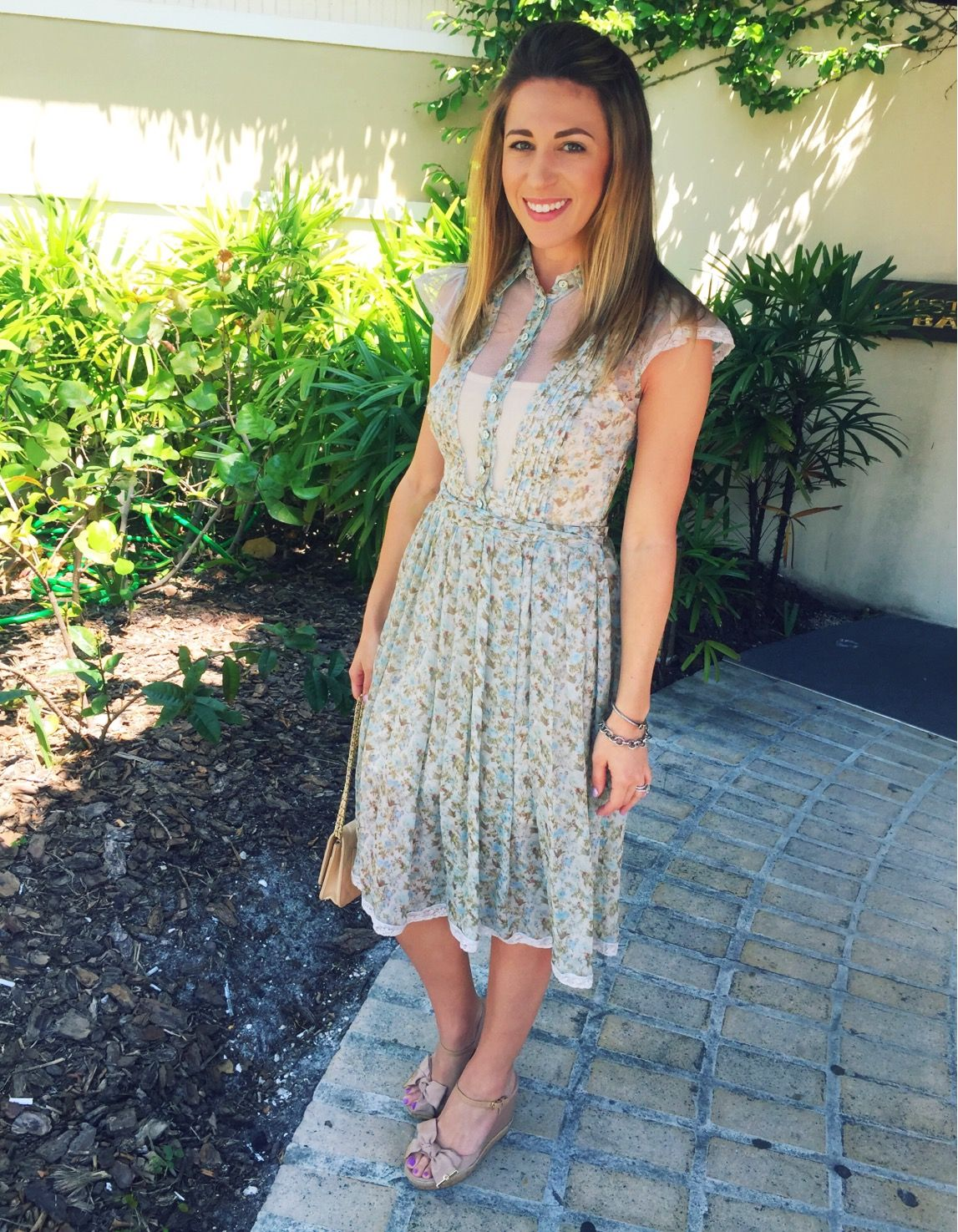 Easter In Clearwater Beach Fl Dress Dolce Gabbana Wedges Tory Burch