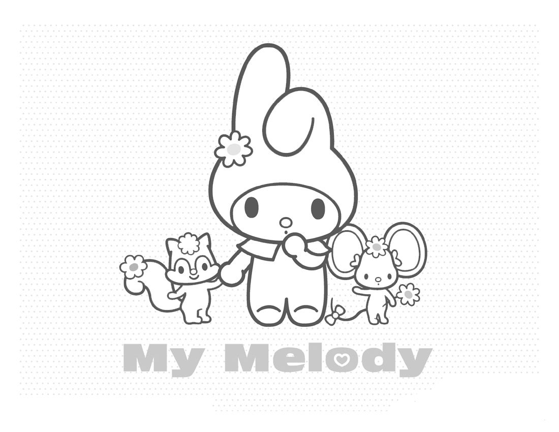 My Melody Coloring in PAGES  Hello kitty coloring, Mermaid