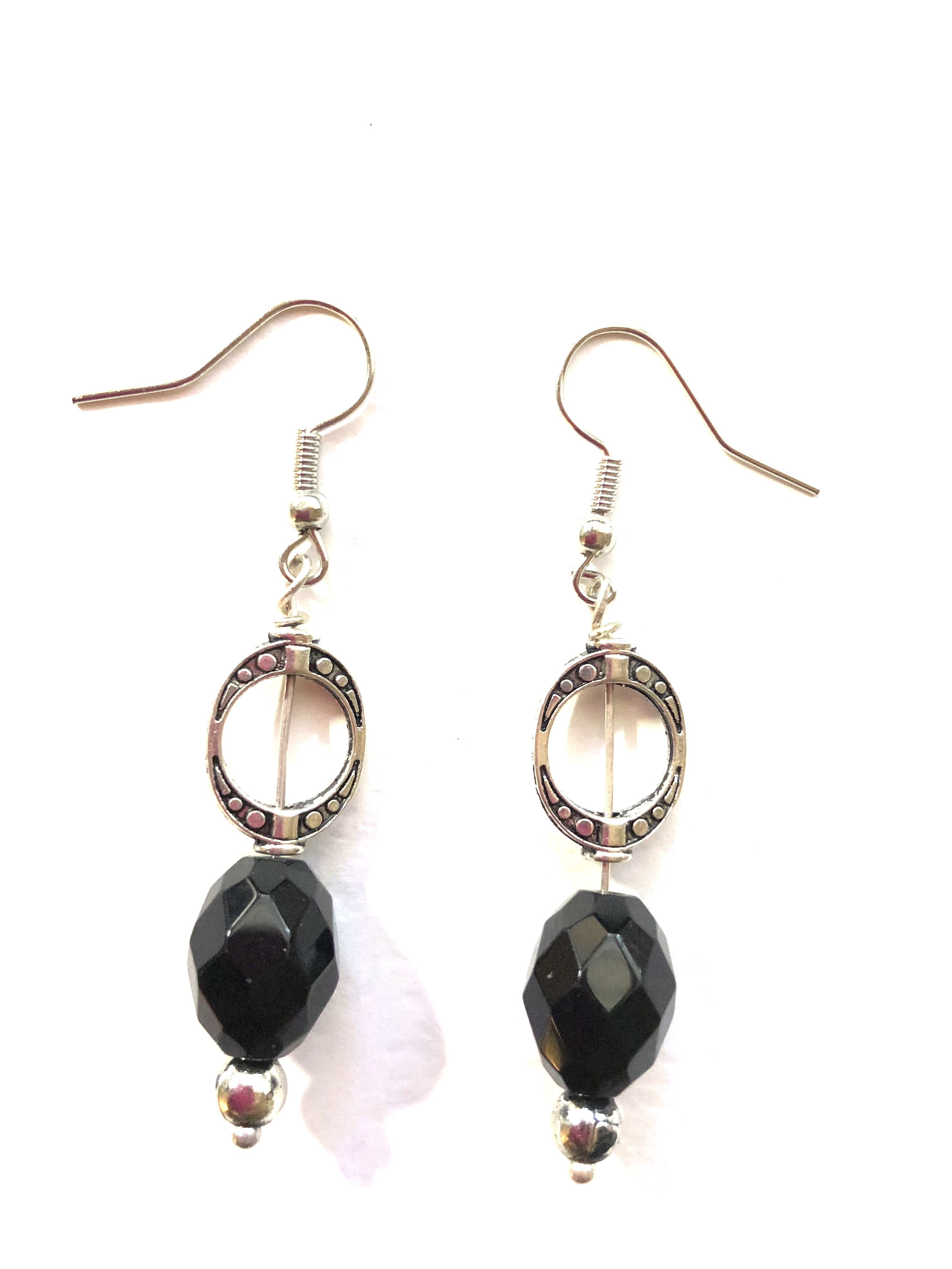 Taashya Dangle and Drop Crown Shaped Earring with a Pink Bead