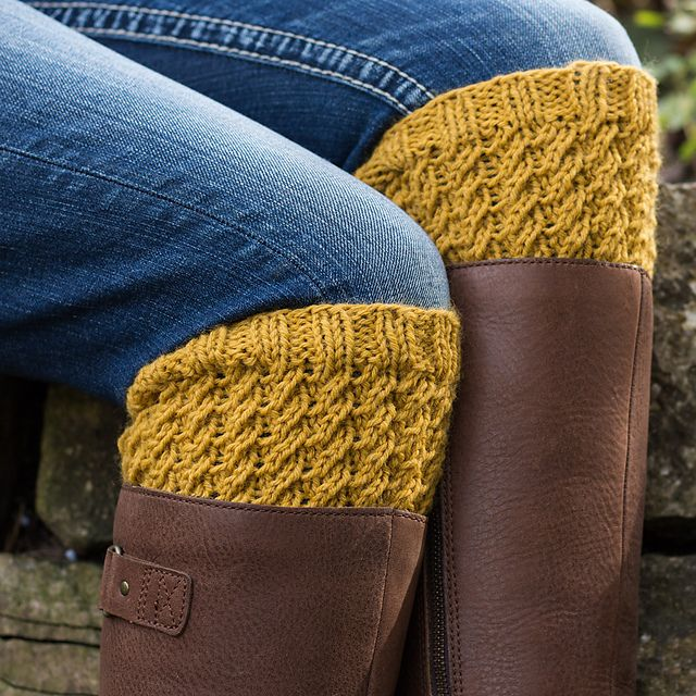 Ravelry: Boot Cuffs : Dignity pattern by Brome Fields ...