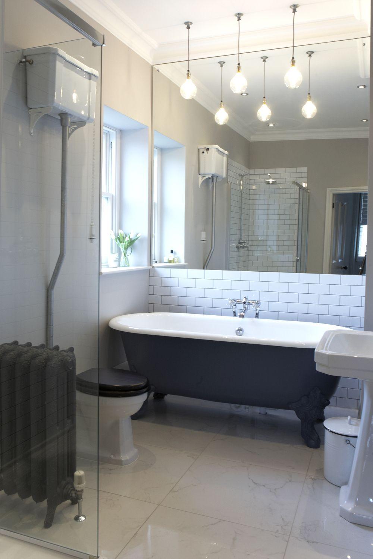 Bathroom Marble Floor Nice Bath Like Metro Tiles On