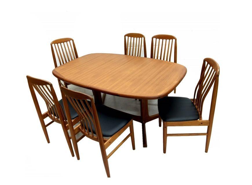 Danish Modern Benny Linden Dining Set 4298 00 Vintage Danish