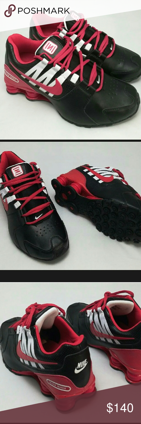 7c8f52e3cf14 ... discount new men women black white red nike shox avenue style meets  function in the nike