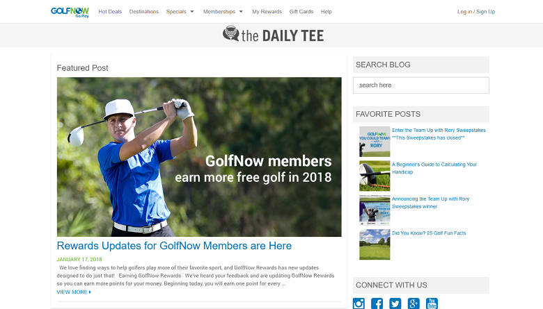 Top 10 Golf Blogs On The Internet Today List Of Top Golf Websites Golf Websites Top Golf How To Start A Blog