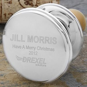Personalized Corporate Engraved Logo Metal Wine Stopper