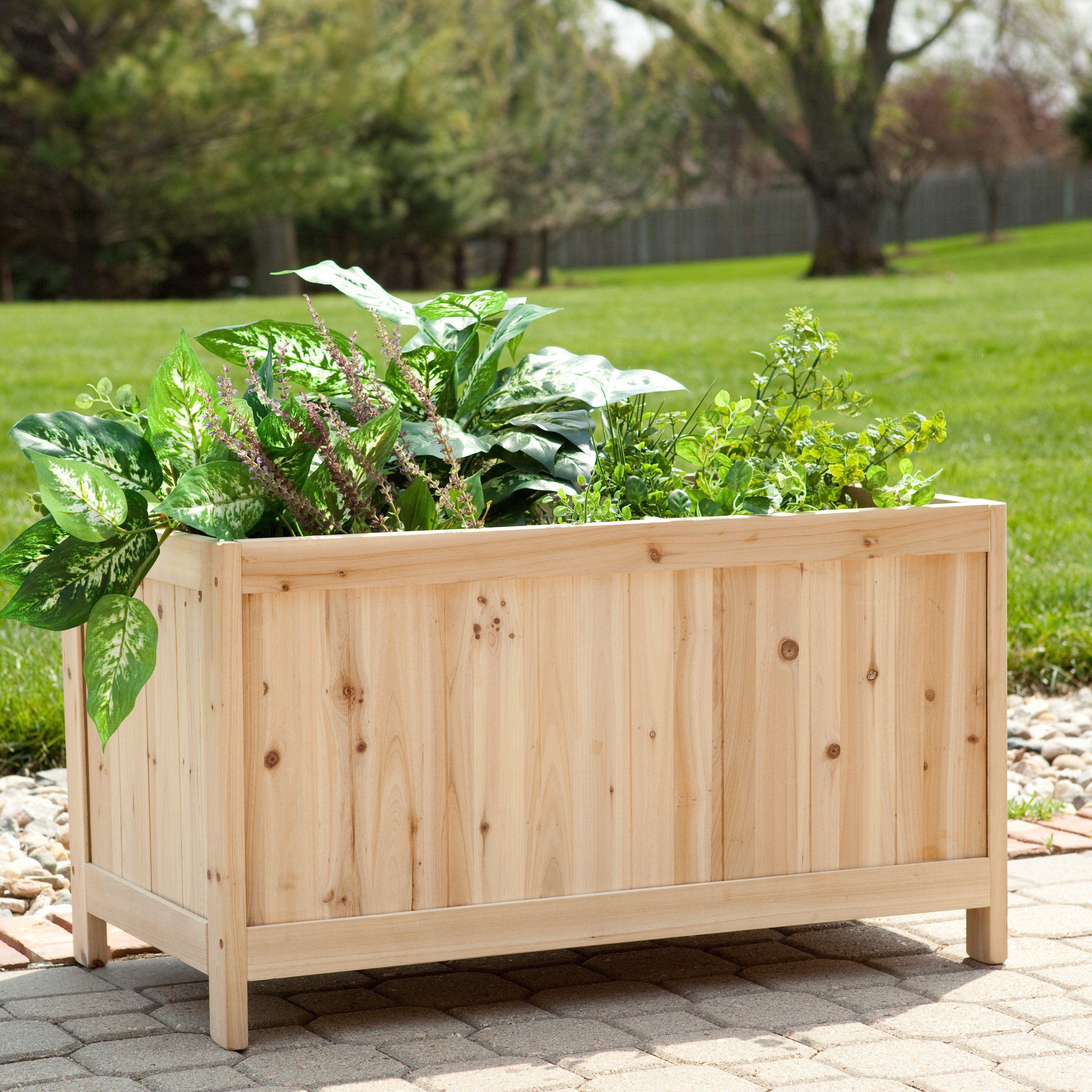Simply Grow Cedar Patio Planter Box $109.98