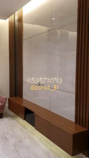 ديكورات خشبية ديكور تلفاز احدث ديكورات تلفزيون اشكال ديكور تلفزيون Video House Design Design Room