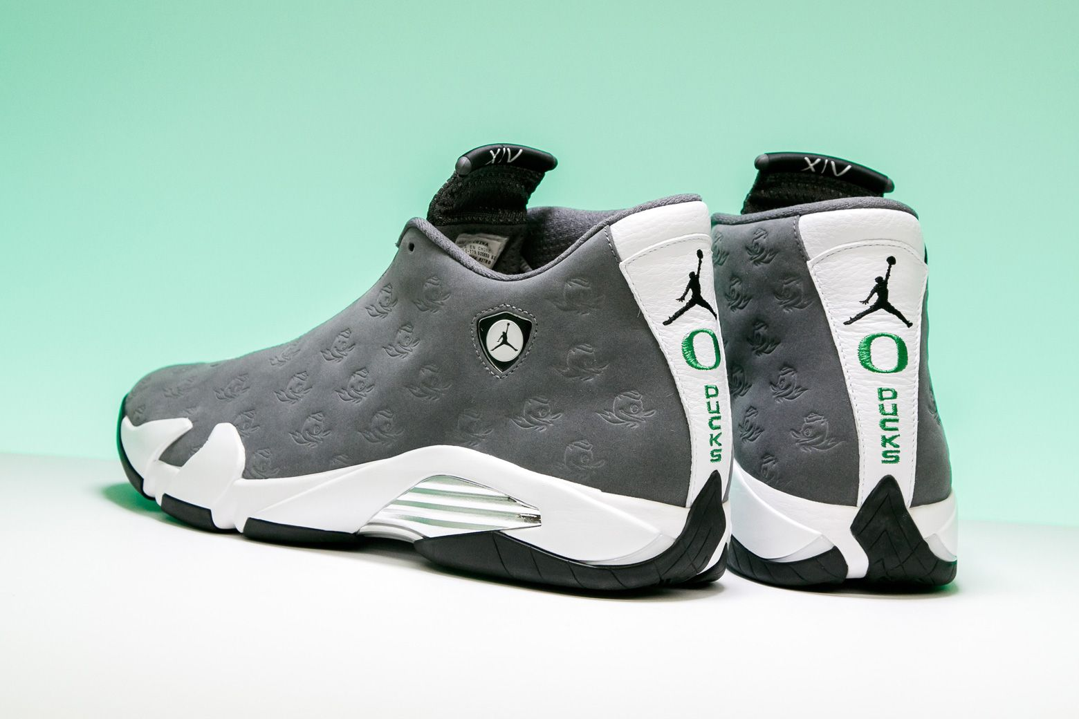 huge discount cc487 fd2fe This Oregon Ducks-inspired design is one of the most detailed Air Jordan  14s ever.