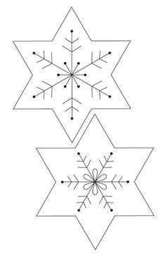 Christmas Paper Snowflake Templates Christmas Crafts