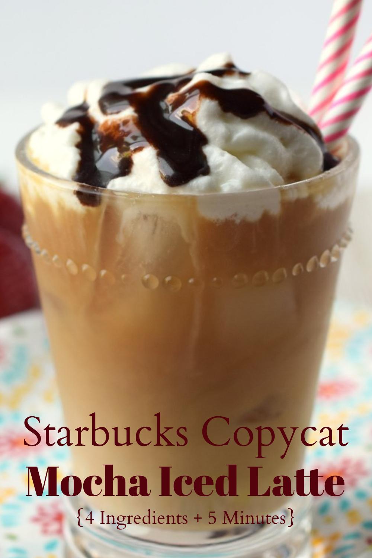 Mocha Iced Latte {Starbucks Copycat} - Snacks and Sips ...