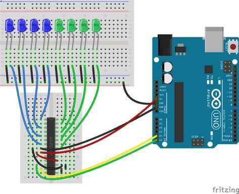 how to increase the number of digital pins in arduino port extender rh pinterest co uk