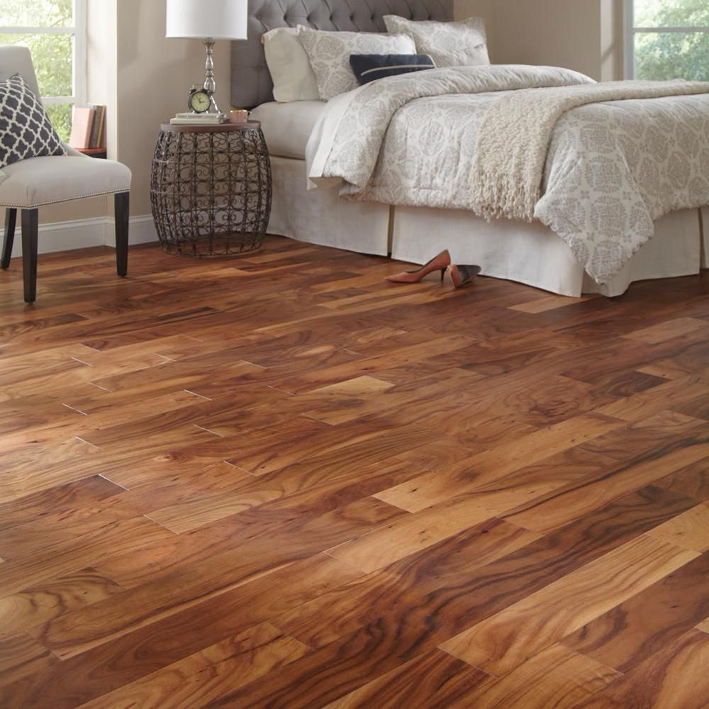 Home Legend Matte Natural Acacia 3 8 In Thick X 5 Wide Varying Length Click Lock Hardwood Flooring 19 686 Sq Ft Case
