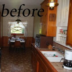 how to paint kitchen cabinets before-DIY homedecoratingideas.com ...