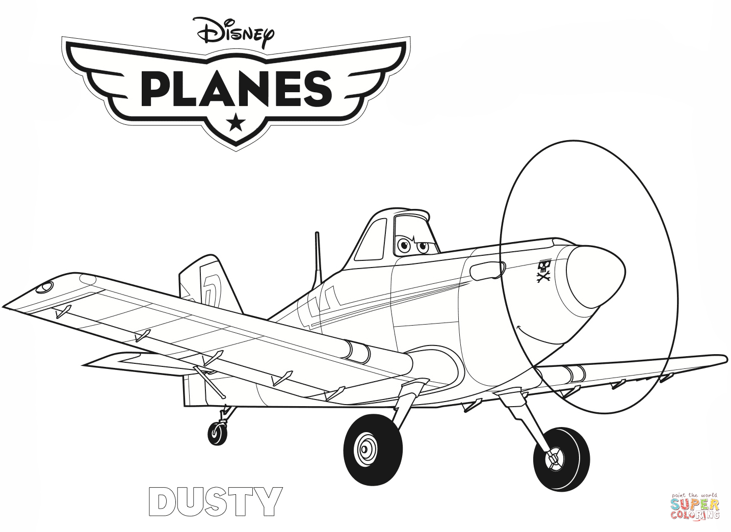 disney plane coloring pages - photo#14