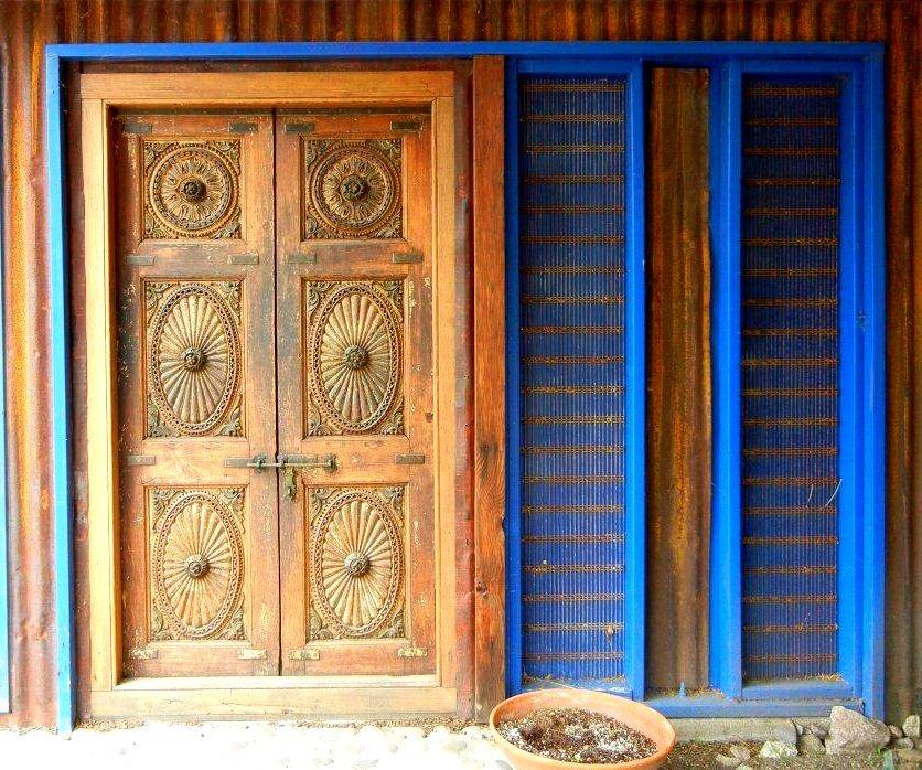Blue Trimmed Door In Patagonia Arizona Southwest Style In Patagonia Arizona