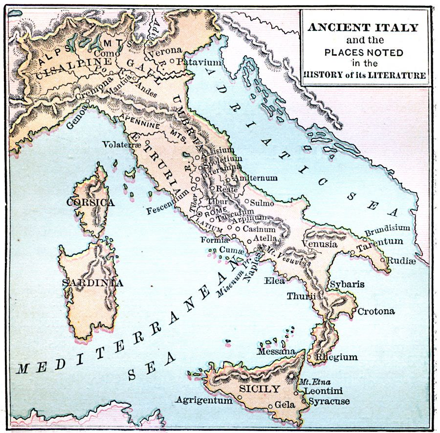 Ancient Italy Maps Pinterest History