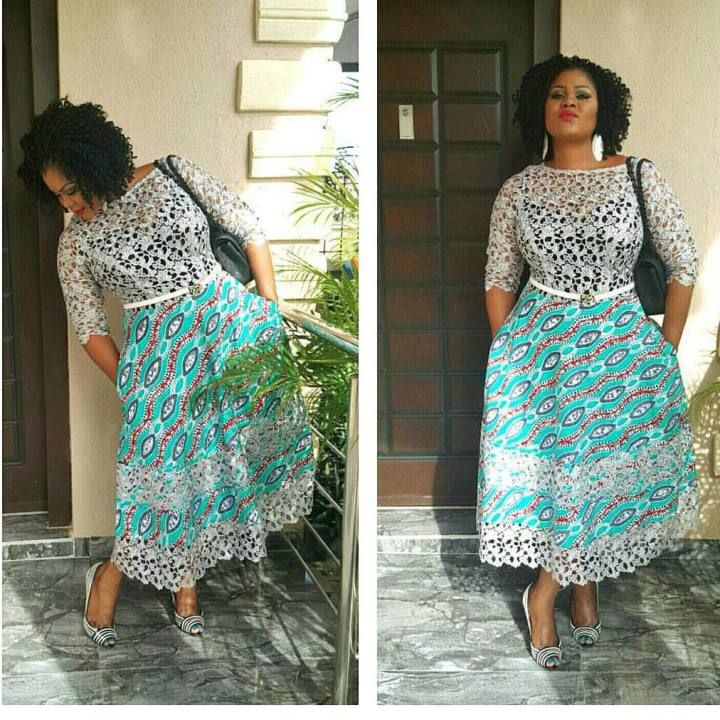 Ankara And Lace Gown Combinations Styles Beautiful African