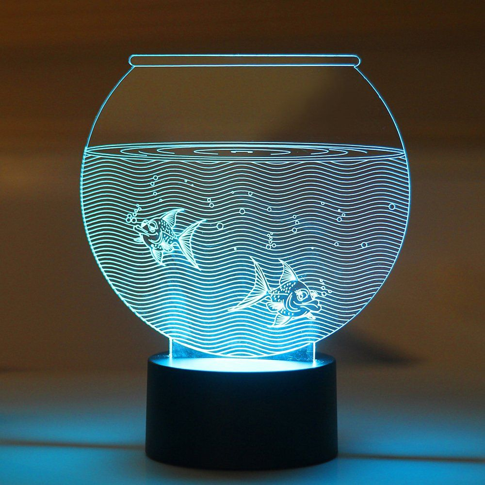 Led night lamp manufacturers - Aquarium Led Night Lamp Lednightlamp Nightlamp 3dlamp Tablelamp 3dnightlamp Shopping