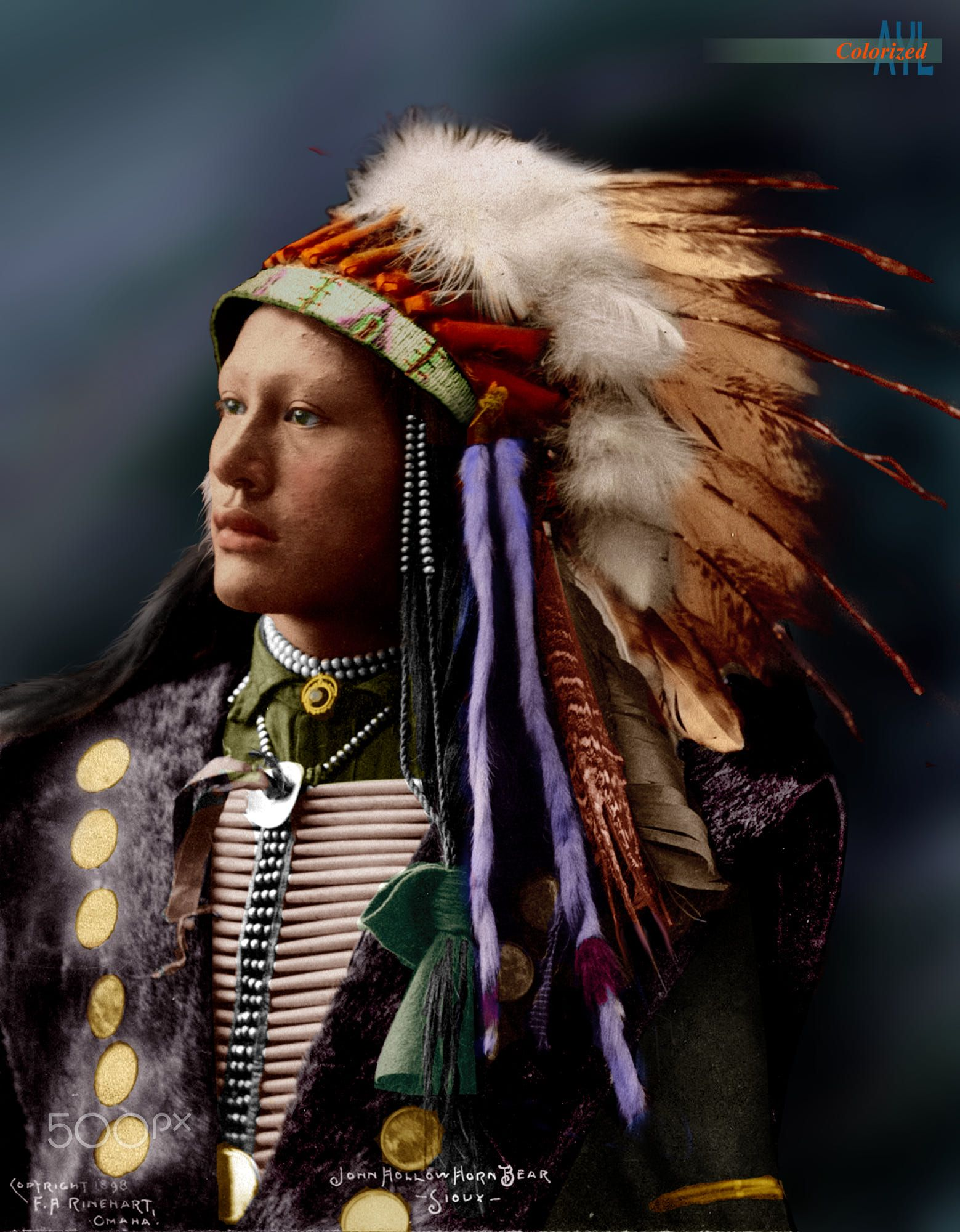Colorized John Hollow Horn Bear Sioux by Alex Lim on 500px ...