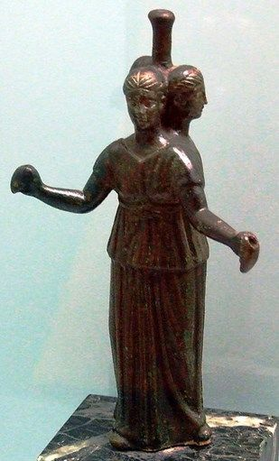 ecate statuetta  Bronze statuette of Hecate - at the Argheological Museum, Barcelona ...