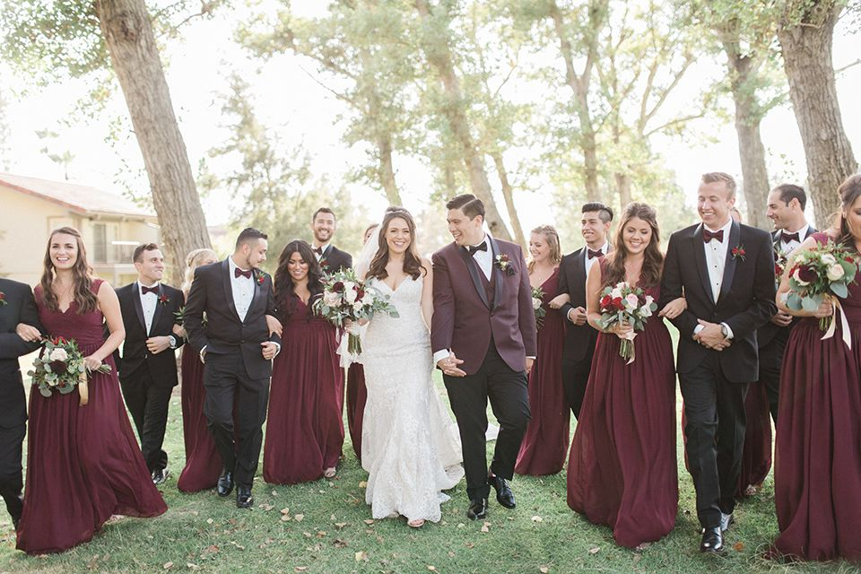 Wedding Photos from a Glamorous Outdoor/Indoor Venue -   16 tuxedo wedding Burgundy ideas